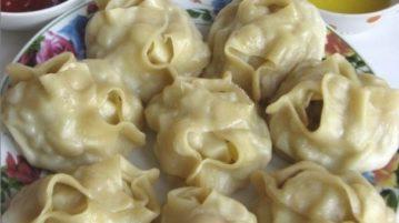 Манты по-узбекски - Вторые блюда