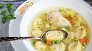 Суп с сырными рулетиками - супы на первое