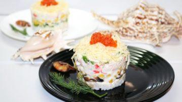 Новый салат с крабовыми палочками - салаты