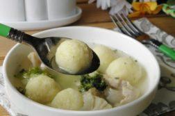 Суп с картофельными шариками - супы на первое