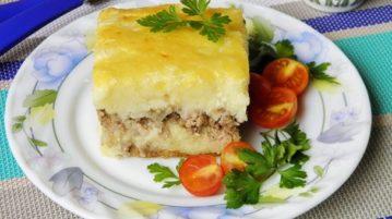 Картофельная запеканка с фаршем - Вторые блюда