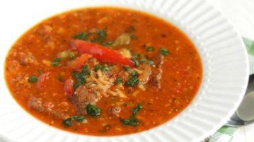 """Настоящий суп """"Харчо"""" - супы на первое"""