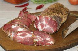 Мясо, вяленое в домашних условиях - закуски