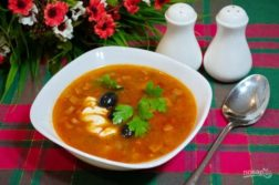 Солянка сборная мясная - супы на первое
