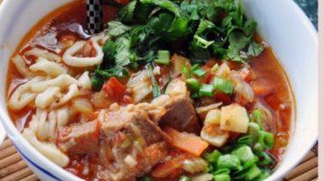 Лагман по-узбекски - супы на первое