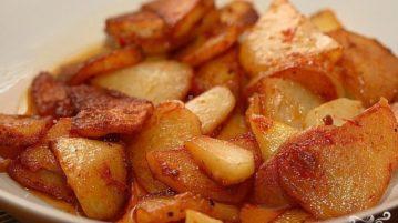 Картошка, жареная в мультиварке - Вторые блюда