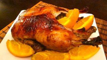 Утка, запеченная с апельсинами - Вторые блюда