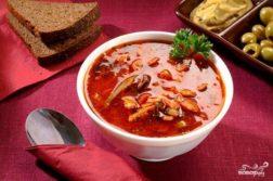 Солянка в мультиварке - супы на первое