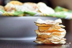 Домашние чипсы в микроволновке - закуски