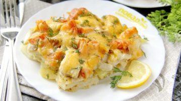 Тилапия в духовке с картошкой - Вторые блюда