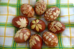 Пасхальные крашеные яйца - закуски
