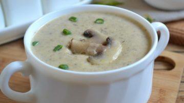 Грибной крем-суп из шампиньонов - супы на первое