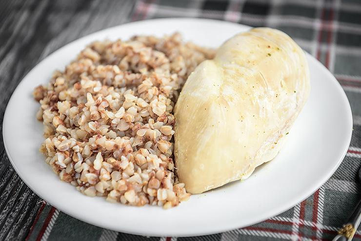Похудеть на гречке и курицей